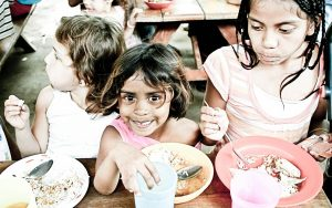 Orphans Kids Hungry Childhood Eating Poverty